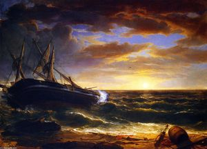 Asher Brown Durand - Le navire Stranded
