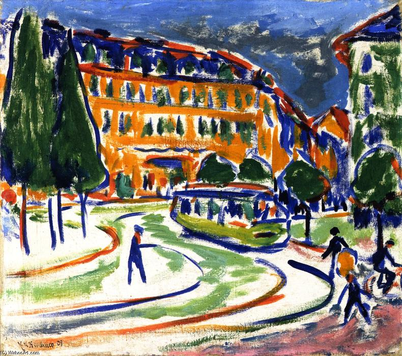 Achat Copie Tableau : Tramway (à Dresde), 1909 de Ernst Ludwig Kirchner (1880-1938, Germany) | WahooArt.com
