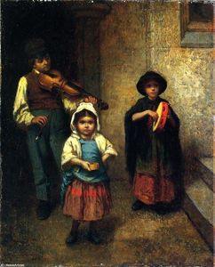 Jonathan Eastman Johnson - rue musiciens