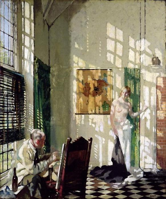 le studio de William Newenham Montague Orpen (1878-1931, Ireland)