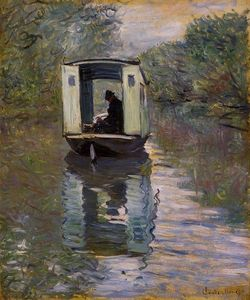 Claude Monet - le studio boat