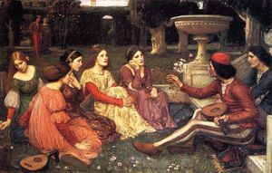 John William Waterhouse - un conte de l Decameron