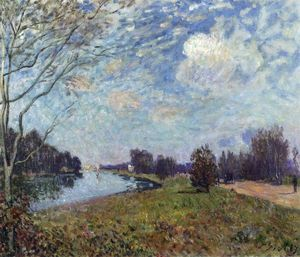 Alfred Sisley - La Tamise à Hampton Court, East Molesey