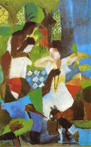 August Macke - Jewel Trader turque