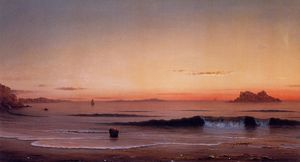 Martin Johnson Heade - Crépuscule le chant  plage