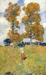 Frederick Childe Hassam - Le Two Trees Hickory (également connu sous le nom Golf Player)