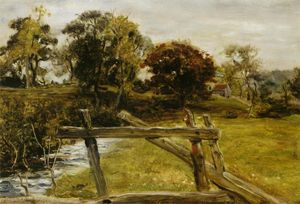 John Everett Millais - Vue de Hampstead