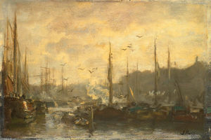 Jacob Henricus Maris - Vue d un port
