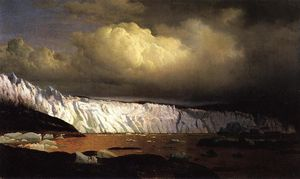 William Bradford - Vue de Sermitsialik Glacier