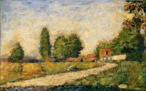 Georges Pierre Seurat - village route