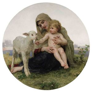 William Adolphe Bouguereau - la vierge à à l agneau