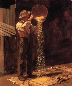 Jonathan Eastman Johnson - Grain vannage