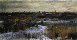 Dwight William Tryon - Hivernal centrale  parc