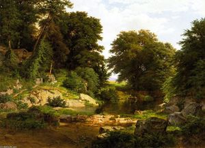 William Trost Richards - Woodland Brook