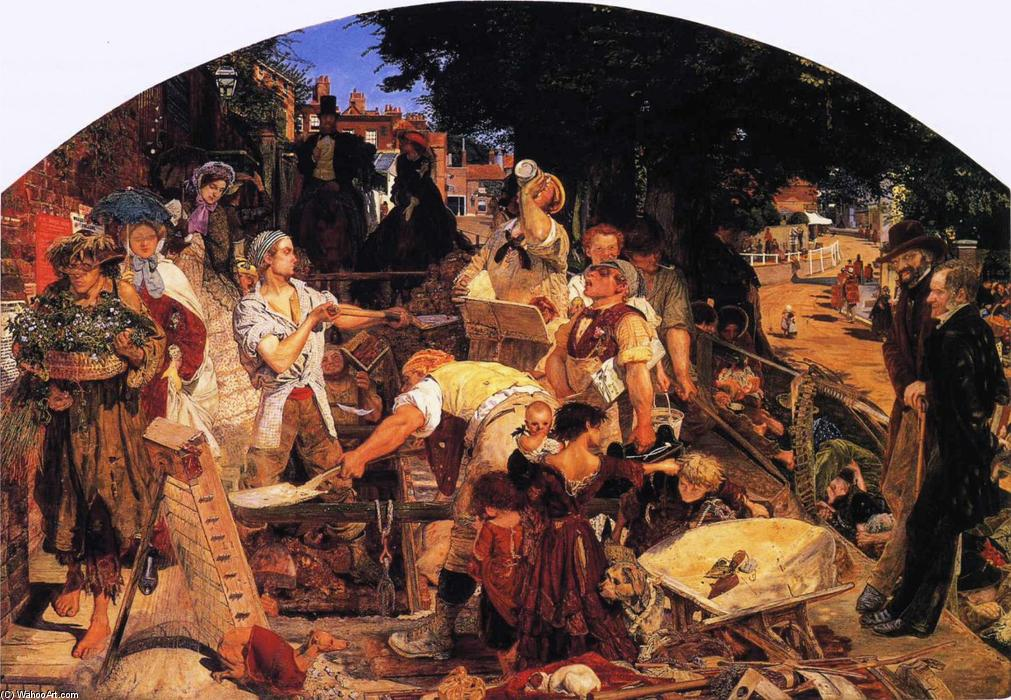 fonctionner de Ford Madox Brown (1821-1893, France) | Reproductions De Peintures Ford Madox Brown | WahooArt.com