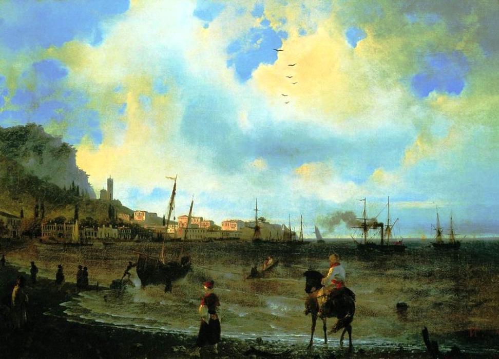 Yalta -  Ivan Aivazovsky - huile sur toile -  1838