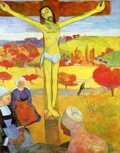 Paul Gauguin - jaune jésus christ - (copie de tableau)