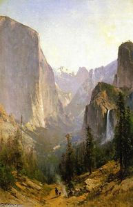 Thomas Hill - Yosemite Waterfall