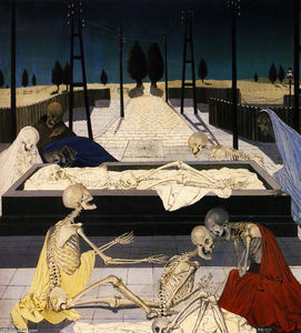 Paul Delvaux - Les tombes de discussion