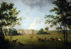 George Barret The Elder - Entrée principale, Burton Constable