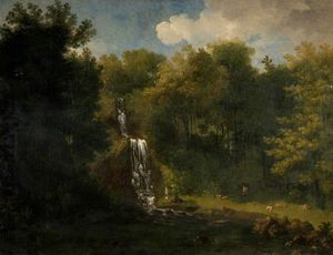 Jacob More - paysage avec waterfall