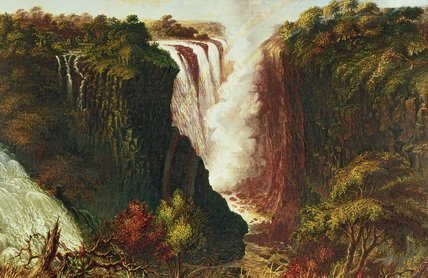 VICTORIA les chutes de western end of chasm de Thomas Baines (1820-1875, United Kingdom)