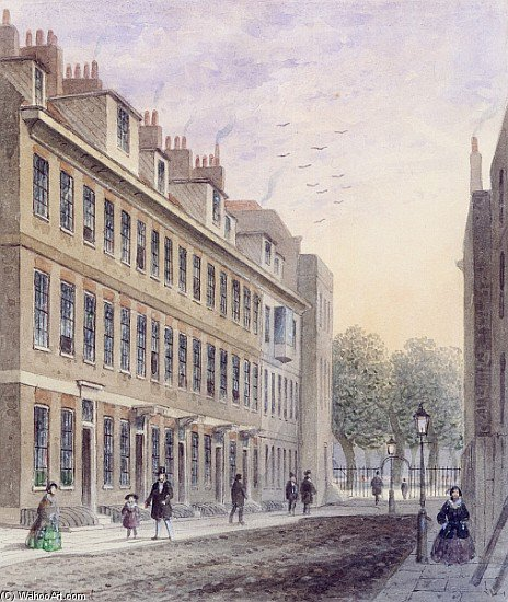 View Of Fludyer rue, en regardant vers le parc St. James de Thomas Hosmer Shepherd (1792-1864, United Kingdom) | WahooArt.com
