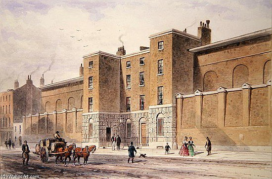 prison street whitecross de Thomas Hosmer Shepherd (1792-1864, United Kingdom) | Copie Tableau | WahooArt.com