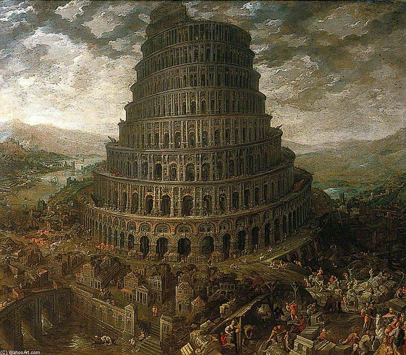 La Tour de Babel de Tobias Verhaecht (1561-1631, Belgium) | Reproductions De Peintures Tobias ...