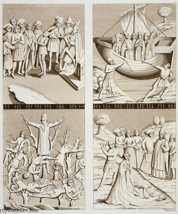Carvings de l Église Au Uppsala de Vittorio Raineri (1797-1869, Italy) | Copie Tableau | WahooArt.com