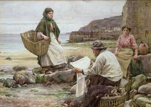 Walter Langley - Rattraper les Cornish Telegraph