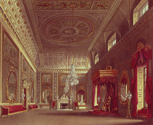 William Henry Pyne - le saloon , BUCKINGHAM Palais