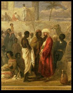 William James Muller - Le Slave Market au  Caire