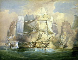 William John Huggins - Il bataille de Trafalgar, le début de l action, le 21 Octobre