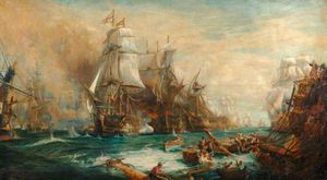 William Lionel Wyllie - La bataille de Trafalgar