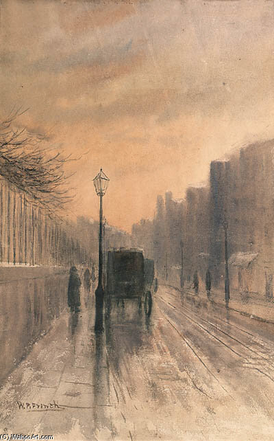 Nassau Rue , Dublin de William Percy French (1854-1920, Ireland)