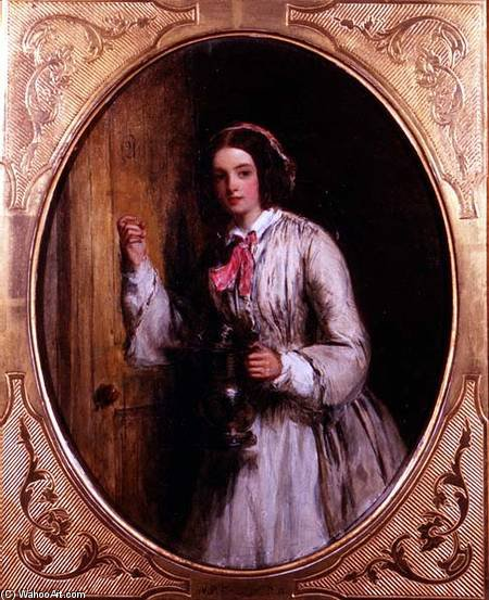 Une pucelle avec Une Flagon - de William Powell Frith (1819-1909, United Kingdom)