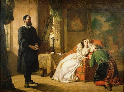 john knox réprimandant Marie de William Powell Frith (1819-1909, United Kingdom) | WahooArt.com