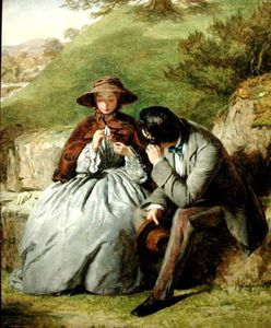 William Powell Frith - amoureux -