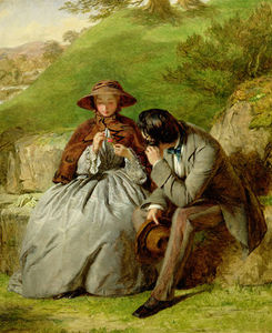 William Powell Frith - amoureux