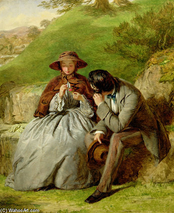 amoureux de William Powell Frith (1819-1909, United Kingdom)