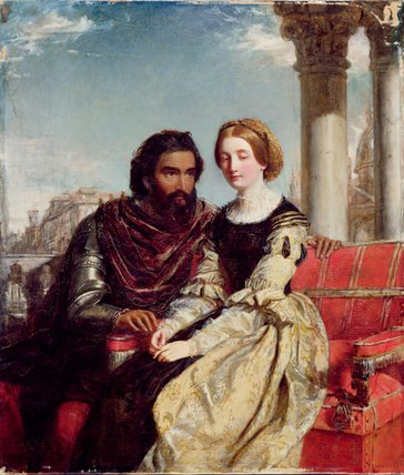 Othello et Desdémone de William Powell Frith (1819-1909, United Kingdom)
