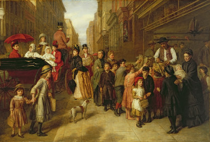 pauvreté et  richesse  de William Powell Frith (1819-1909, United Kingdom) | Copie Tableau | WahooArt.com