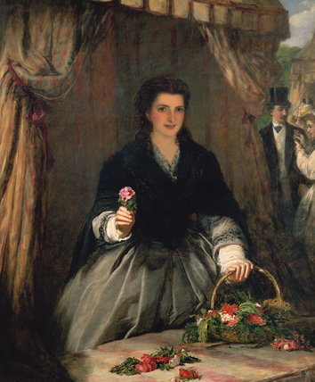 La vendeuse de fleurs de William Powell Frith (1819-1909, United Kingdom)