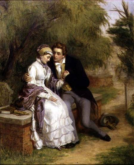 Le siège du Lover - de William Powell Frith (1819-1909, United Kingdom)