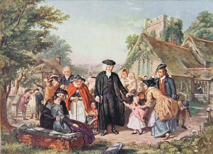 Le Village clergyman de William Powell Frith (1819-1909, United Kingdom) | Reproduction Peinture | WahooArt.com