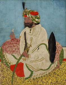 William Rothenstein - Maharadja gulab singh de jammu-et Cachemire