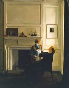 William Rothenstein - mère et enfant