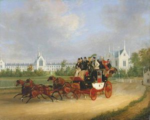 James Pollard - Le -tally-ho- Londres - Birmingham coach stage passant whittington Université , Highgate