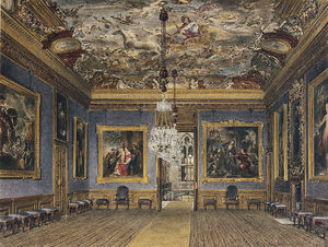 James Stephanoff - château de windsor , King's dessin chambre